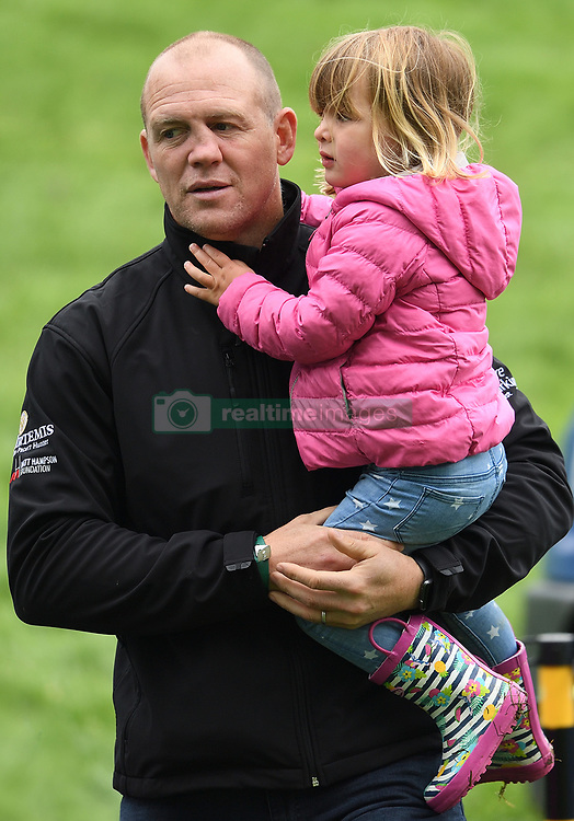 Zara, Mike and Mia Tindall attend The Bramham International Horse Trials at Bramham Park, Wetherby, Yorkshire, UK, on the 10th June 2017. 10 Jun 2017 Pictured: Mike Tindall, Mia Tindall. Photo credit: James Whatling / MEGA TheMegaAgency.com +1 888 505 6342