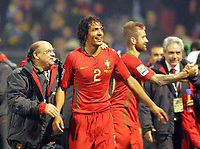 Fotball<br /> VM-kvalifisering play off<br /> 18.11.2009<br /> Bosnia v Portugal<br /> Foto: Gepa/Digitalsport<br /> NORWAY ONLY<br /> <br /> Bild zeigt den Jubel von Portugal mit Bruno Alves (POR)