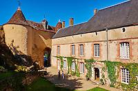 France, Indre (36), le Berry, vallée de la Creuse, Gargilesse-Dampierre, labellisé Les Plus Beaux Villages de France, le château // France, Indre (36), Creuse valley, Gargilesse-Dampierre, The most beautiful villages of France, the castle