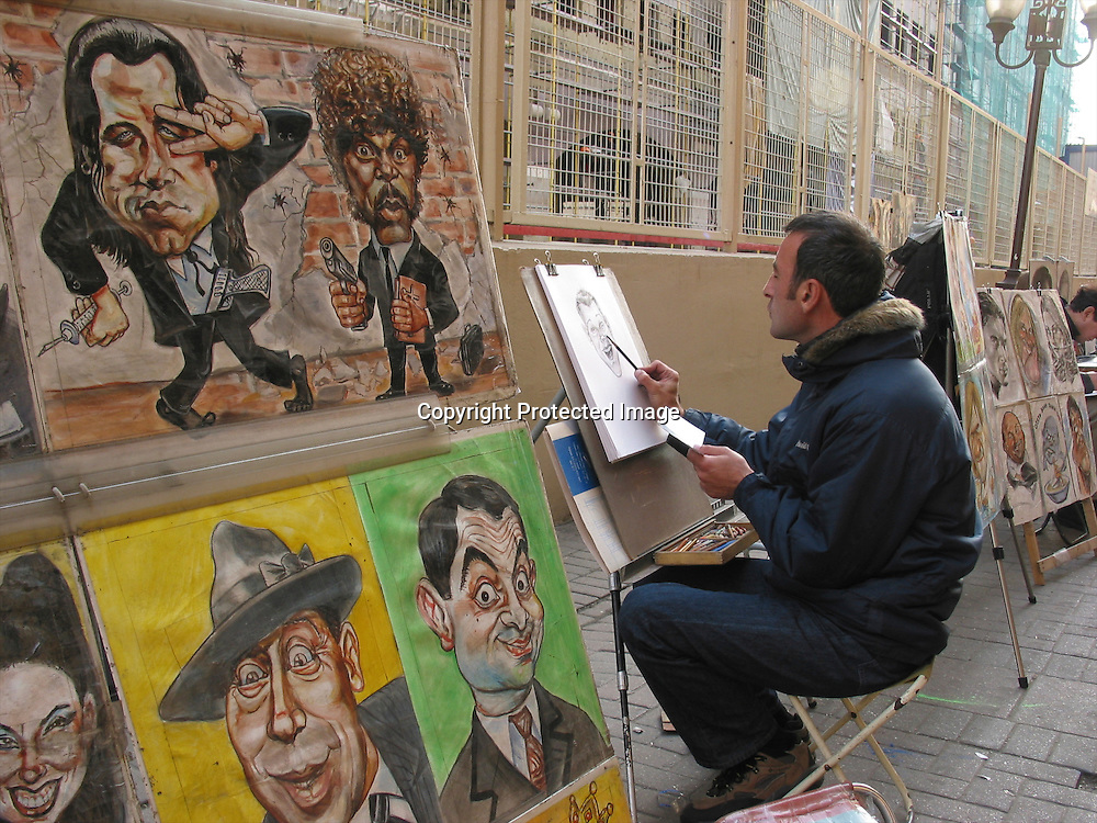 artist at work in Moscow