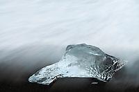 13.06.2008.Glacier ice laying on the sea shore.öræfi, Iceland