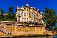 Bridges along the River Seine, Paris, France.