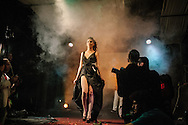 A contestant parades along the catwalk at Istanbul's second Trans beauty Pageant, organised by Angel of Turkey, raising money for a hostel for transgender women who are often victims of hate crime in Turkey.