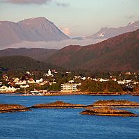 Europe, Norway, Alesund. Dramatic coastline of Alesund.