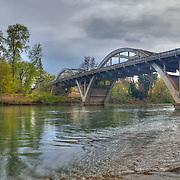 Caveman Bridge - Rogue River View - Grants Pass, Oregon - HDR