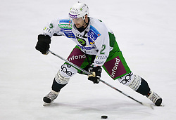 Kevin Mitchell of Tilia Olimpija at 28th Round  ice hockey match of EBEL league between HK Acroni Jesenice and HDD Tilia Olimpija Ljubljana, on December 4, 2009, in Arena Podmezaklja, Jesenice, Slovenia. Olimpija defeated Jesenice 8-7. (Photo by Vid Ponikvar / Sportida)