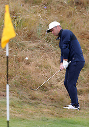 England's Paul Casey chips onto the 2nd green during day two of The Open Championship 2018 at Carnoustie Golf Links, Angus. PRESS ASSOCIATION Photo. Picture date: Friday July 20, 2018. See PA story GOLF Open. Photo credit should read: Richard Sellers/PA Wire. RESTRICTIONS: Editorial use only. No commercial use. Still image use only. The Open Championship logo and clear link to The Open website (TheOpen.com) to be included on website publishing.