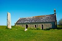 France, Finistère (29), Goulven, la chapelle Saint-Guvroc sur le site des dunes de Keremma // France, Briitany, Finistere, St Guvroc church near Keremma dunes