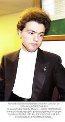 Pianist EVGENY KISSIN at a concert in London on 27th March 2002.	OYP 214