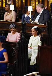 Benita Litt (left) and Doria Ragland, mother of the bride, during the wedding service for Prince Harry and Meghan Markle at St George's Chapel, Windsor Castle.