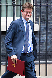 London, July 4th 2017. Secretary of State for Business, Energy and Industrial Strategy Greg Clark leaves the weekly cabinet meeting at 10 Downing Street in London.
