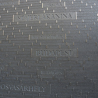 Newly inaugurated Memorial of Unity is seen decorated with names of Hungarian towns (many of them belonging to neighbouring countries since the Treaty of Trianon) engraved onto the walls on the national holiday celebrating the foundation of the Hungarian State in Budapest, Hungary  on Aug. 20, 2020. ATTILA VOLGYI