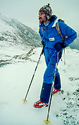 Dave McNulty, New Zealand mountain guide and avalanche expert instructor, Arthur's pass, August 1985