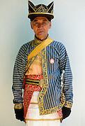 Man in ceremonial dress at Sultan's Palace, Yogyakarta, Indonesia