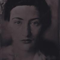 Tintype wetplate collodion plate made at Vine Street, Brighton. Claudia Treacher.