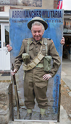 © Licensed to London News Pictures. 29/05/2014. Eric Carter, a former Royal Marine has never returned to Normandy since leaving the Royal Navy.  He was part of 47 Commando Brigade which supported the Canadian Infantry as they stormed Juno beach.  Photo credit : Alison Baskerville/LNP
