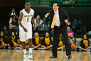 WACO, TX - DECEMBER 17: Baylor Bears head coach Scott Drew has words with Kenny Chery #1 against the New Mexico State Aggies on December 17, 2014 at the Ferrell Center in Waco, Texas.  (Photo by Cooper Neill/Getty Images) *** Local Caption *** Scott Drew; Kenny Chery