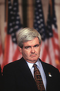 House Majority Leader Rep. Newt Gingrich during a press conference in Washington, DC.