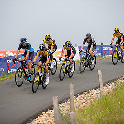 WIJSTER (NED) June 19: <br /> CYCLING <br /> Dutch Nationals Road U23 up and around the Col du VAM<br /> Mick Van Dijke (Netherlands / Team Jumbo Visma Academy)<br /> Tim van Dijke, Casper Van Uden (Netherlands / Team DSM Development), Hidde Van Veenendaal, Lars Boven, Joren Bloem, Timo De Jong (Netherlands / Team VolkerWessels - Merckx)