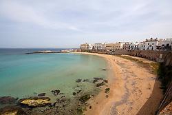 Vista della spiaggia della purità di mattina