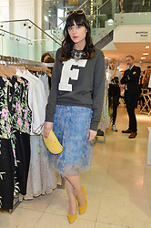 LILAH PARSONS at a party to celebrate the launch of French Connection's #CANTHELPMYSELFIE -The UK's first in-store interactive selfie booths and windows held at French Connection, 249-251 Regent Street, London on 15th April 2014.