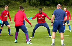 Jonathan Leko takes part in training with England Under 19s ahead of the International Friendlies against Poland and Germany - Mandatory by-line: Robbie Stephenson/JMP - 31/08/2017 - FOOTBALL - England U19 - Training session ahead of international friendly against Netherlands