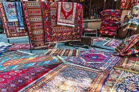 handcraft made silk persian carpet shop in the old town landmark of Tbilisi Georgia capital city eastern Europe