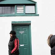 Dawnyell, a recovering crack addict, returns for the first time to the Portland home where she started doing hard drugs. A dealer lived in the apartment beneath her, leading to a life of crime and despair. Photographed Dec. 18, 2011.