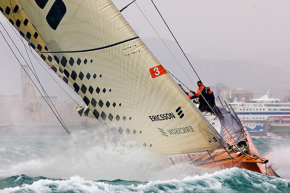 © Sander van der Borch.Alicante, 11 October 2008. Start of the Volvo Ocean Race. Ericsson 3 at the start of the first leg from Alicante  to Capetown..