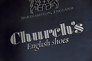 Sign for shoe shop Church's English shoes.