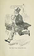 My Uncle Podger Runs for his train from the book ' Three men on the bummel ' Illustrated by L. Raven Hill written by Jerome, Jerome K. (Jerome Klapka), 1859-1927. Publisher Bristol [Eng.] J.W. Arrowsmith 1900