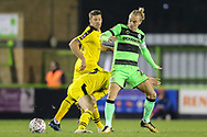 Forest Green Rovers Joseph Mills(23) during the The FA Cup 1st round replay match between Forest Green Rovers and Oxford United at the New Lawn, Forest Green, United Kingdom on 20 November 2018.