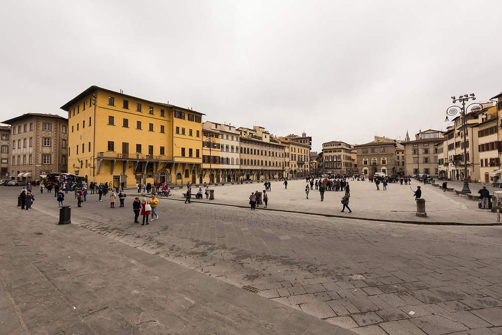 Piazza di Santa Croce in Florence, Italy. Piazza Santa Croce is one of the significant squares located in central Florence. It takes its name from the Basilica of Santa Croce that overlooks the square.