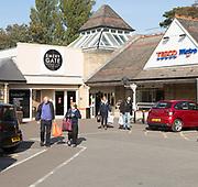 Emery Gate shopping centre car park, Tesco Metro, Chippenham, Wiltshire, England, UK