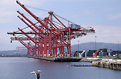 Empty Hanjin Shipping containers