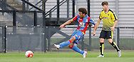 Keshi Anderson slotting home the first of his hattrick during the Final Thirds Development League match between U21 Crystal Palace and U21 Watford at Selhurst Park, London, England on 24 August 2015. Photo by Michael Hulf.