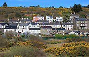 Rows of historic houses inn rural setting, Youghal, County Cork, Ireland, Irish Republic