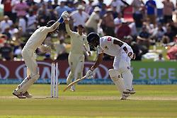 November 7, 2018 - Galle, Sri Lanka - Sri Lankan cricket captain Dinesh Chandimal is stumped out by England's wicket keeper Ben Foakes (L) during the 2nd day's play of the first test cricket match between Sri Lanka and England at Galle International cricket stadium, Galle, Sri Lanka, on 7 Novemeber 2018. (Credit Image: © Tharaka Basnayaka/NurPhoto via ZUMA Press)