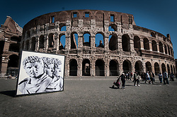 March 24, 2019 - Rome, italy, Italy - Tourists visit the Colosseum area in Rome. A new ticket system was introduced in the archaeological site of the Colosseum and from November 1st visitors will have to pay 16 euros (an increase of 4 euros) for the basic ticket that gives access to the Colosseum, the Roman Forum and the Palatine Hill. (Credit Image: © Amdrea Ronchini/Pacific Press via ZUMA Wire)
