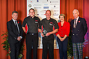 The winners of the 2015 Scottish Border Business Award for Agricultural Supplier of the Year:Quadcare Ltd, Lauder.Sponsored by Scottish Borders Chamber of Commerce.<br /> <br /> The 2015 Scottish Border Business Awards, held at Springwood Hall, Kelso. The awards were run by the Scottish Borders Chambers of Commerce, with guest speaker Keith Brown, MSP. The SBCC chairman Jack Clark and the presenter Fiona Armstrong co hosted the event.