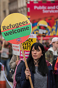 A march against racism, organised by Stand Up to Racism and supporterd by the TUC and most major unions including Unison, Unite, The PCS and the NUT. It started in Portland place and ended up in Parlaiment Square, Westminster - London 18 Mar 2017.