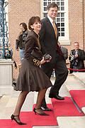 Prinses Leonore dochter , de jongste dochter van Prins Constantijn en  Prinses Laurentien is zondagochtend 8 oktober 2006 in  de kapel van Paleis Het Loo  in Apeldoorn gedoopt. / Princes Leonore, the jongest daughter of Prince Constantijn en Princes Laurentien, is baptist in Palace Het Loo in Apeldoorn.<br /> <br /> Op de foto / On the photo: Premier Jan Peter Balkenende en zijn vrouw