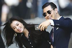 July 3, 2018 - Paris, France - South Korean film actress HAN HYO JOO takes a selfie as she arrives for Chanel Spring Summer 2019 Paris Fashion show.(Credit Image: © Panoramic via ZUMA Press)