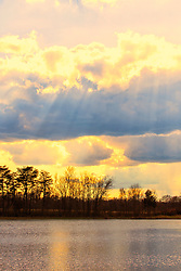 A Little Light From The Heavens After The Storm at Busch Memorial Conservation