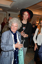 MAGGI HAMBLING and CONRAD ARMSTRONG at a the Fortnum's X Frank private view - an instore exhibition of over 60 works from Frank Cohen's collection at Fortnum & Mason, 181 Piccadilly, London on 12th September 2016.