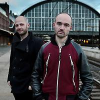 Nederland, Amsterdam, 3 februari 2016.<br /> Regisseurs en theatermakers Casper Vandeputte en Dries Verhoeven (r)<br /> <br /> <br /> Foto: Jean-Pierre Jans