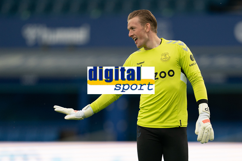 Football - 2020 / 2021 Premier League - Everton vs Sheffield United - Goodison Park<br /> <br /> <br /> Everton's Jordan Pickford during the pre-match warm-up <br /> <br /> <br /> COLORSPORT/TERRY DONNELLY