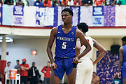 NORTH AUGUSTA, SC. July 10, 2019. Jeremiah Williams 2020 #5 of MeanStreets 17U at Nike Peach Jam in North Augusta, SC. <br /> NOTE TO USER: Mandatory Copyright Notice: Photo by Eric Delgado / Jon Lopez Creative /Nike