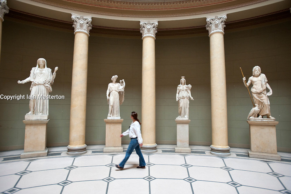 Statues in entrance hall of Altes Museum on Museumsinsel in Berlin Germany