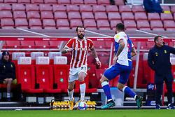 Steven Fletcher of Stoke City looks for options to attack the area - Mandatory by-line: Nick Browning/JMP - 19/12/2020 - FOOTBALL - Bet365 Stadium - Stoke-on-Trent, England - Stoke City v Blackburn Rovers - Sky Bet Championship